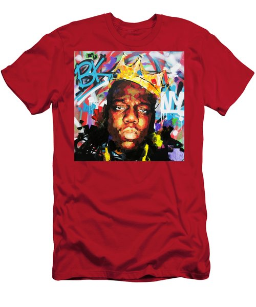 Men's T-Shirt (Slim Fit) featuring the painting Biggy Smalls IIi by Richard Day