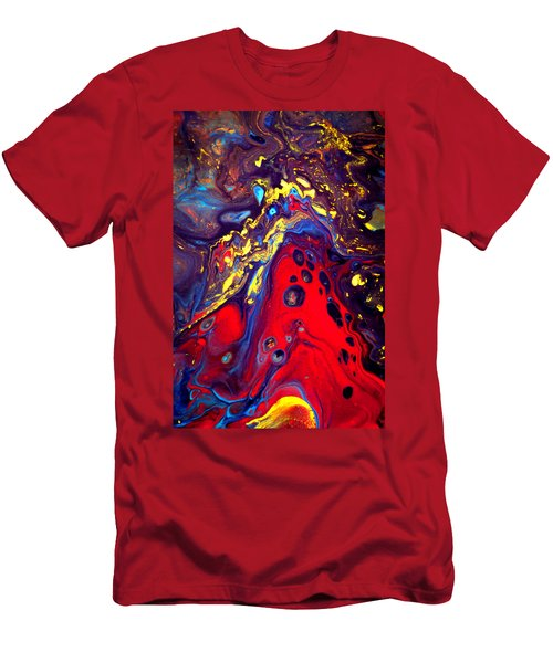Billion Stars Hotel  - Abstract Colorful Mixed Media Painting Men's T-Shirt (Athletic Fit)