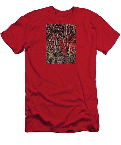 Birch Tree Mosaic Men's T-Shirt (Athletic Fit)