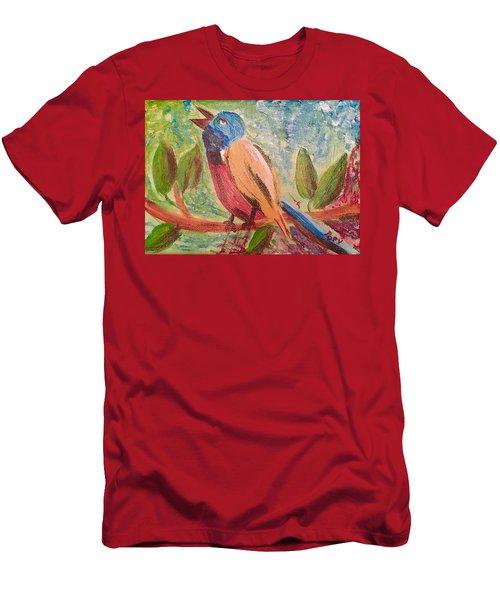 Bird At Rest Men's T-Shirt (Slim Fit)