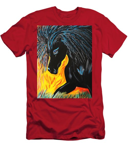 Black Beauty Men's T-Shirt (Slim Fit) by Nora Shepley