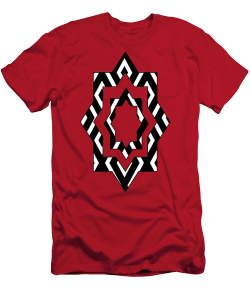 Black And White Pattern Men's T-Shirt (Athletic Fit)