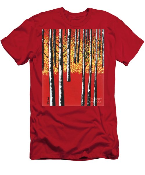 Blazing Birches Men's T-Shirt (Athletic Fit)