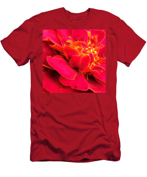 Blazing Pink Marigold Men's T-Shirt (Athletic Fit)
