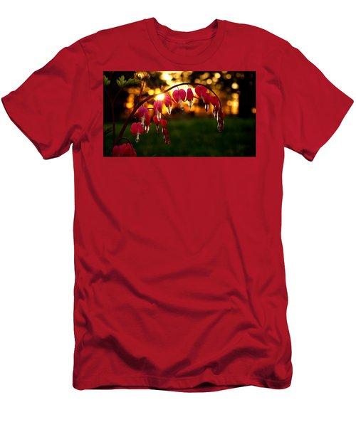 Bleeding Heart Sunset Men's T-Shirt (Athletic Fit)