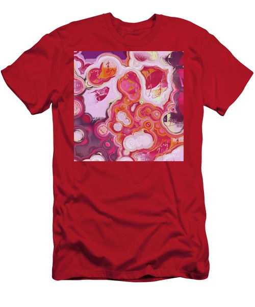 Men's T-Shirt (Slim Fit) featuring the digital art Blobs - 03v2c7b by Variance Collections