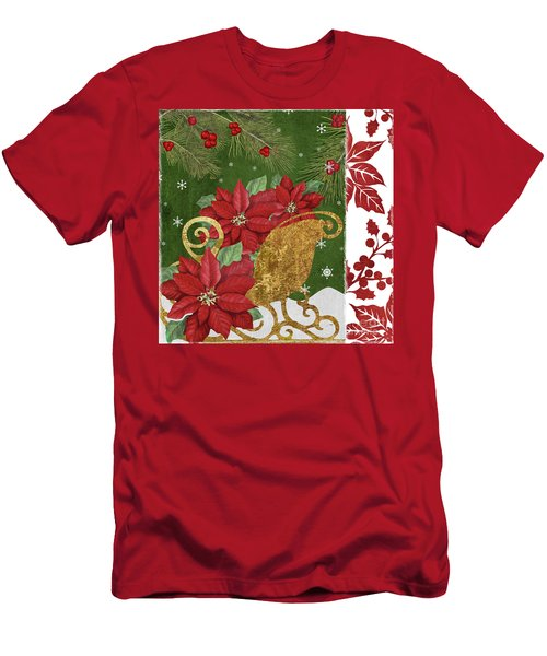 Blooming Christmas I Men's T-Shirt (Athletic Fit)