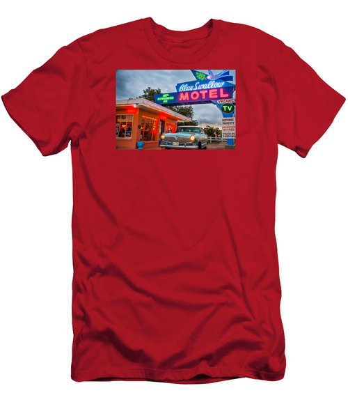 Blue Swallow Motel On Route 66 Men's T-Shirt (Athletic Fit)