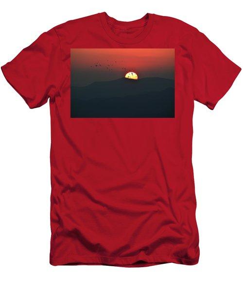 Blue Ridge Sunset Men's T-Shirt (Athletic Fit)