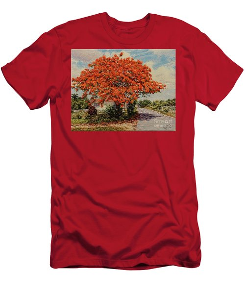 Bluff Poinciana Men's T-Shirt (Athletic Fit)