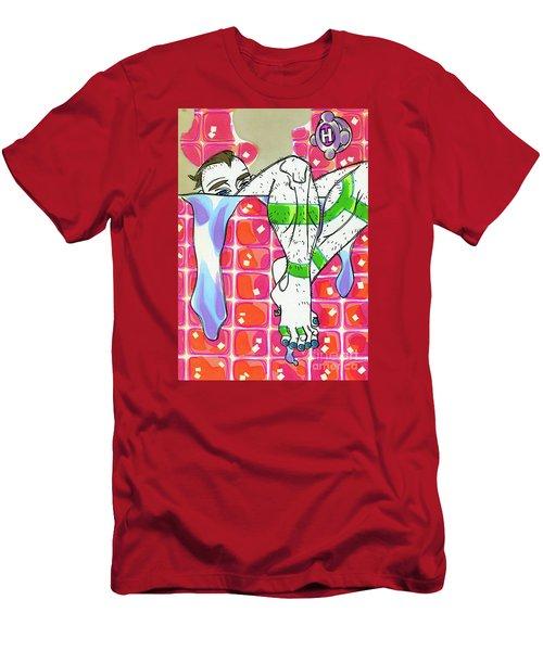 Blushing Bath Men's T-Shirt (Athletic Fit)