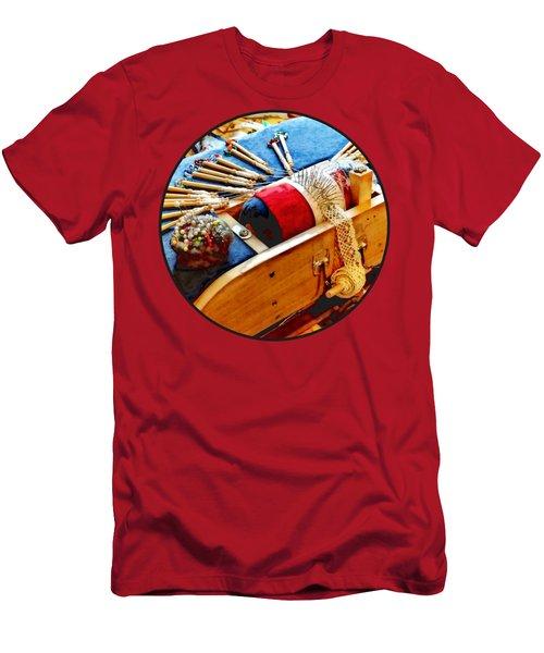 Bobbin Lace Men's T-Shirt (Athletic Fit)