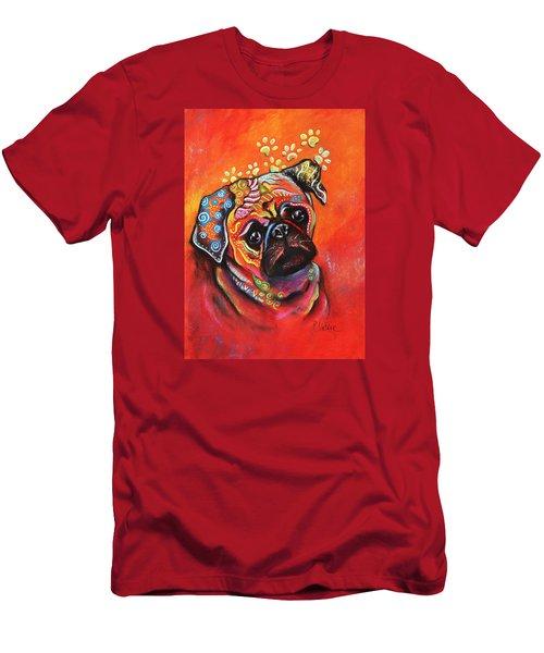 Pug Men's T-Shirt (Slim Fit) by Patricia Lintner