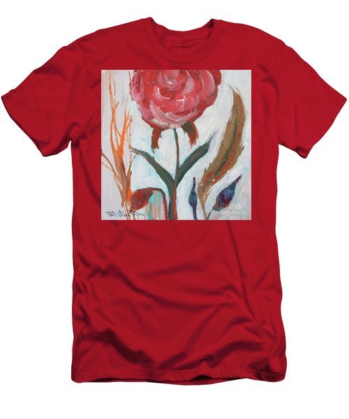 Men's T-Shirt (Athletic Fit) featuring the painting Bold Bright Beautiful Bloom by Robin Maria Pedrero