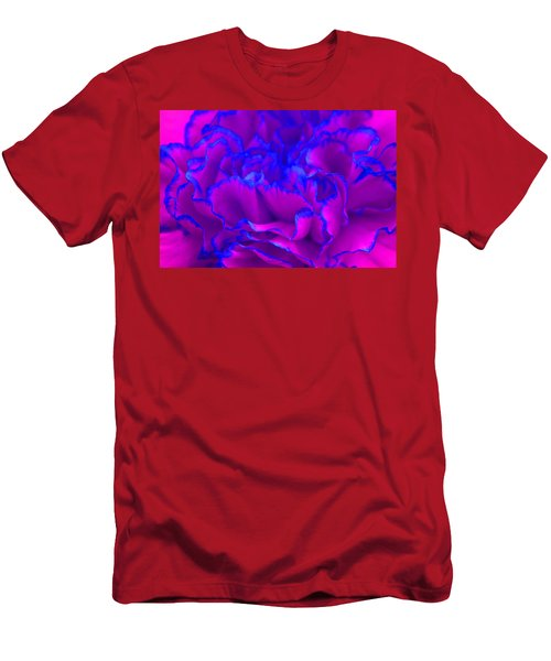 Bold Fuschia Pink And Blue Carnation Flower Men's T-Shirt (Athletic Fit)