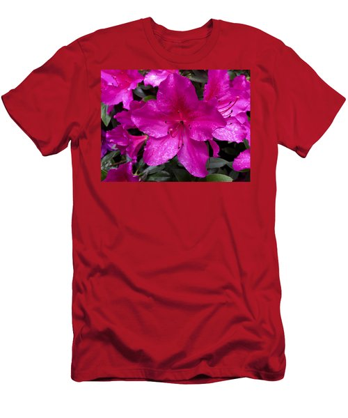 Bold Pink Flower Men's T-Shirt (Athletic Fit)