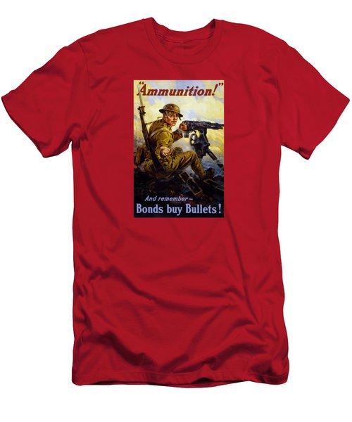 Ammunition  - Bonds Buy Bullets Men's T-Shirt (Athletic Fit)