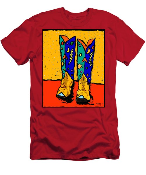 Boots On Yellow 24x30 Men's T-Shirt (Athletic Fit)