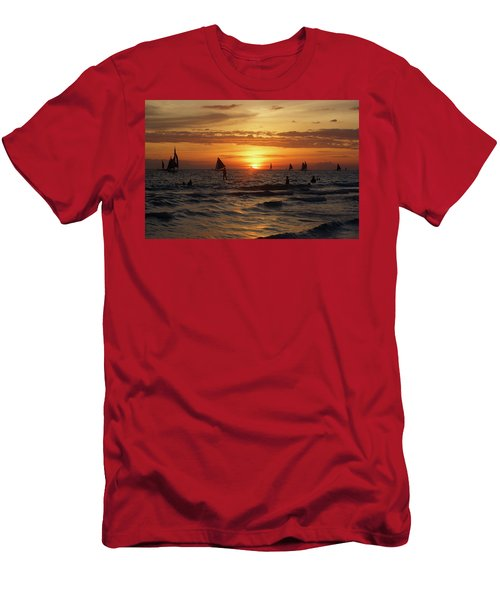 Boracay Sunset Men's T-Shirt (Athletic Fit)