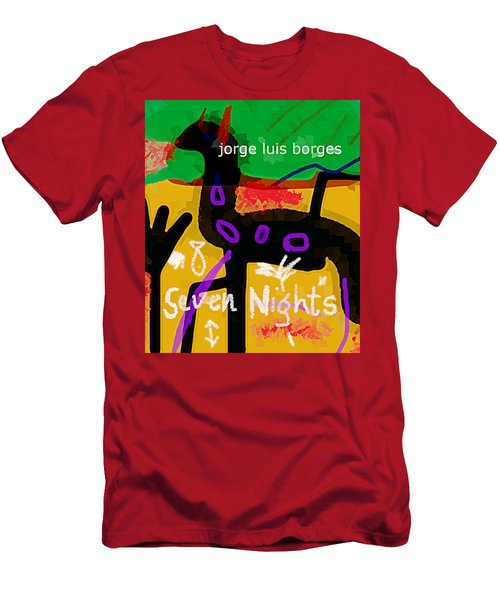 Borges Seven Nights Poster  Men's T-Shirt (Athletic Fit)