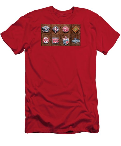 Boston Red Sox World Series Emblems Men's T-Shirt (Slim Fit) by Diane Diederich