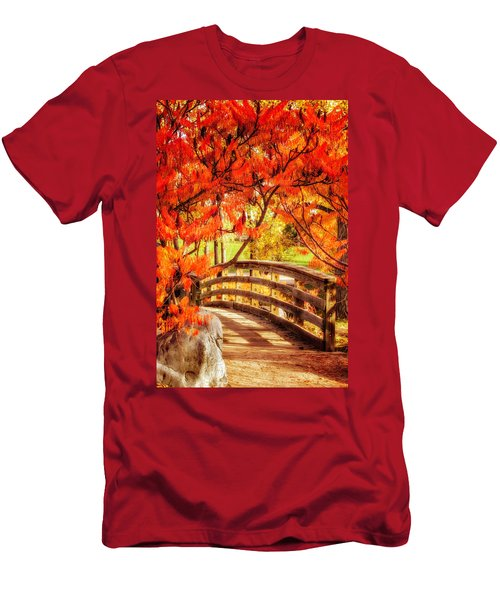Men's T-Shirt (Slim Fit) featuring the photograph Bridge Of Fall by Kristal Kraft