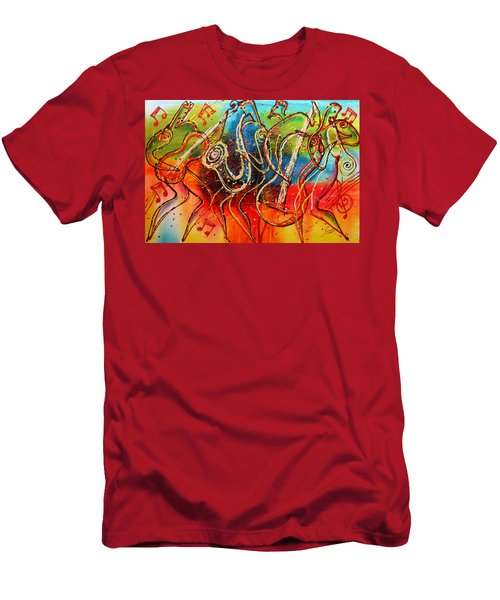 Bright Jazz Men's T-Shirt (Athletic Fit)