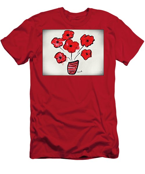 Bright Red Men's T-Shirt (Athletic Fit)