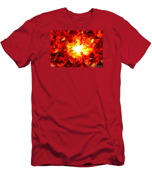 Men's T-Shirt (Slim Fit) featuring the painting Brighter Than The Sun by Holley Jacobs