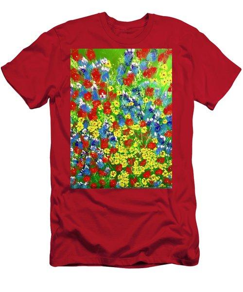 Brilliant Florals Men's T-Shirt (Athletic Fit)