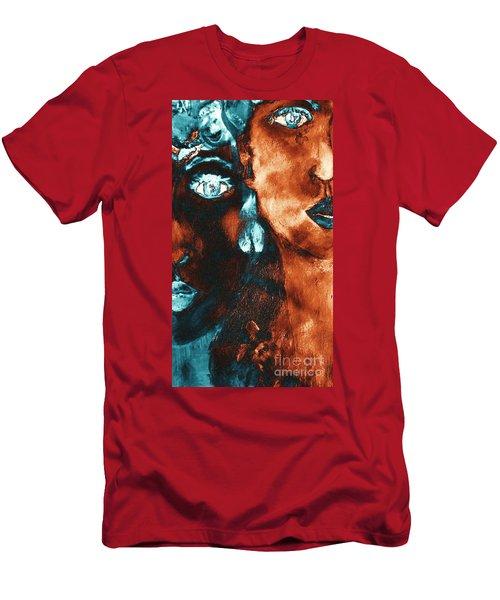 Bronze Sisters Painting Men's T-Shirt (Athletic Fit)