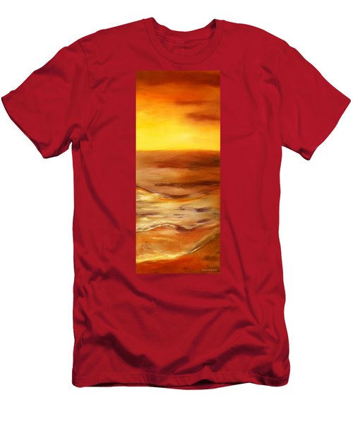 Brushed 5 - Vertical Sunset Men's T-Shirt (Athletic Fit)