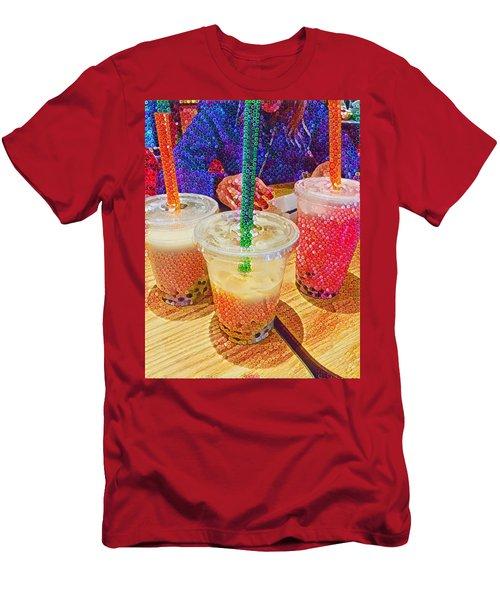 Bubble Tea For Three Men's T-Shirt (Athletic Fit)