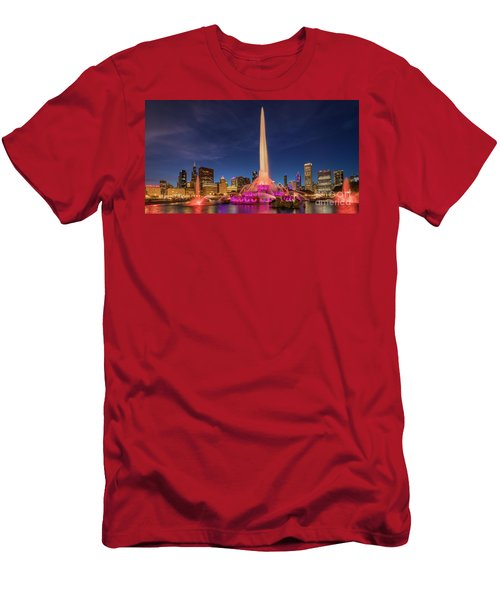 Buckingham Fountain - One Men's T-Shirt (Athletic Fit)