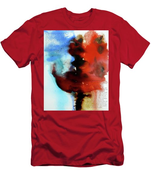 Men's T-Shirt (Slim Fit) featuring the painting Budding Romance by Jo Appleby