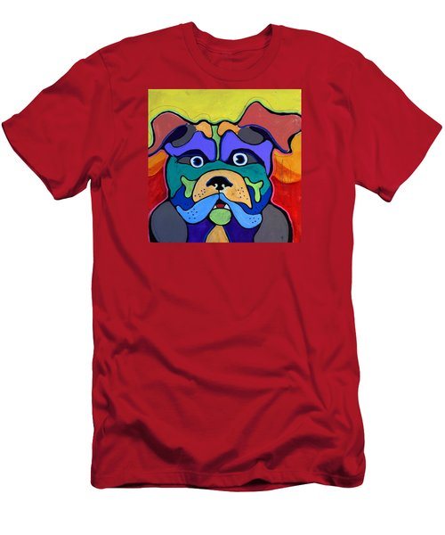 Bull Dog - Don't Give Me Your Lines , And Keep Your Hands To Yourself Men's T-Shirt (Athletic Fit)
