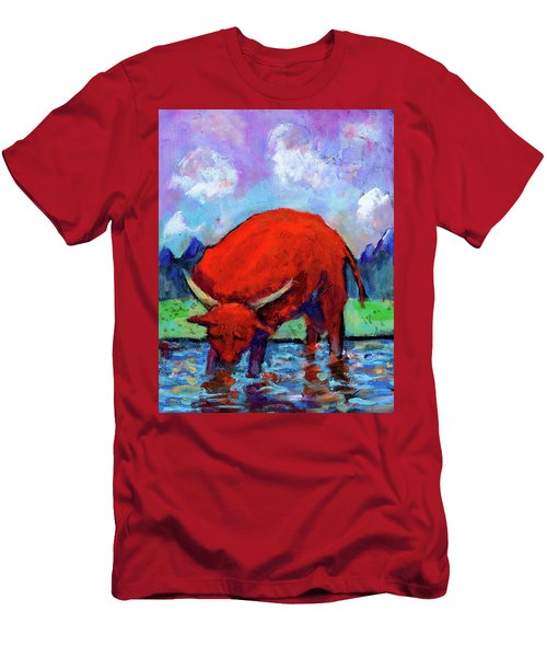 Bull On The River Men's T-Shirt (Athletic Fit)