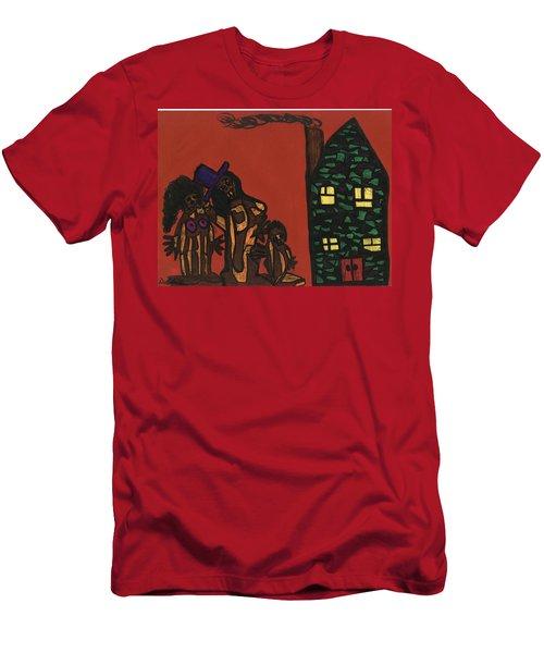 Bumpkin Dwellings Men's T-Shirt (Slim Fit) by Darrell Black