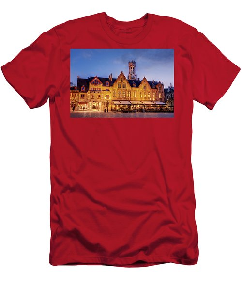 Burg Square Architecture At Night - Bruges Men's T-Shirt (Athletic Fit)
