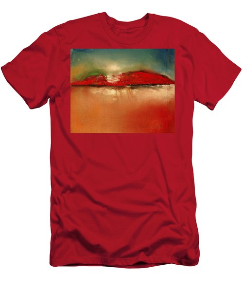 Burgundy Mountain Men's T-Shirt (Athletic Fit)