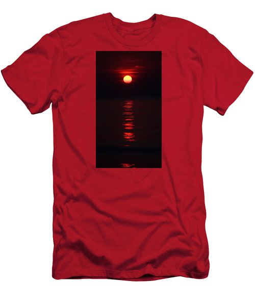 Burnt Orange Sunrise Men's T-Shirt (Athletic Fit)