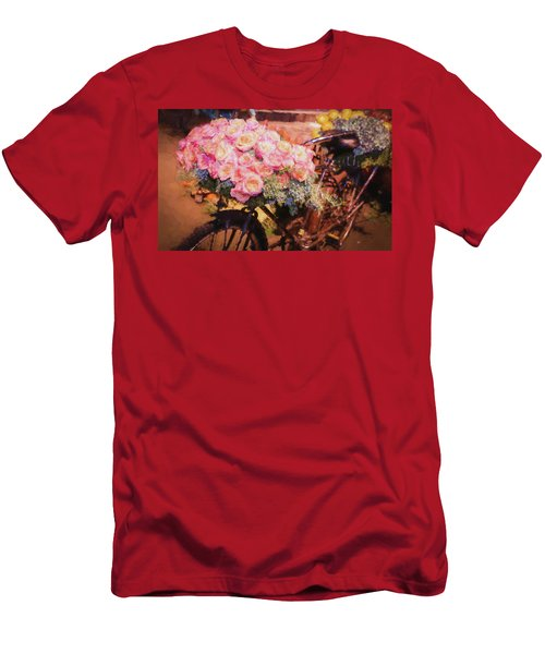 Bursting With Flowers Men's T-Shirt (Slim Fit)