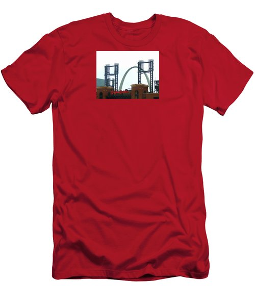 Busch Stadium With Arch Men's T-Shirt (Athletic Fit)