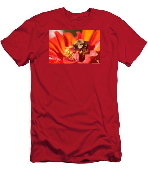 Men's T-Shirt (Slim Fit) featuring the photograph Busy Bee II by Greg Graham