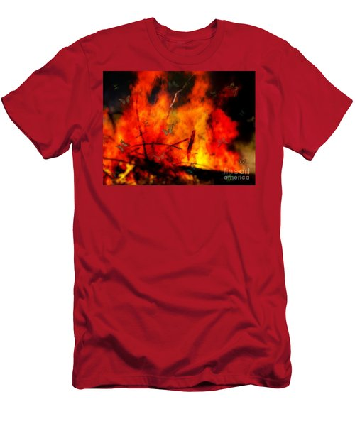 Butterflies And Flame Men's T-Shirt (Athletic Fit)