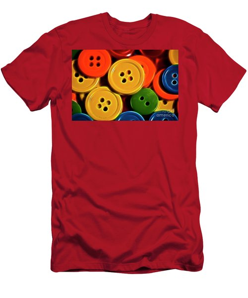 Men's T-Shirt (Slim Fit) featuring the photograph Buttons by Linda Blair