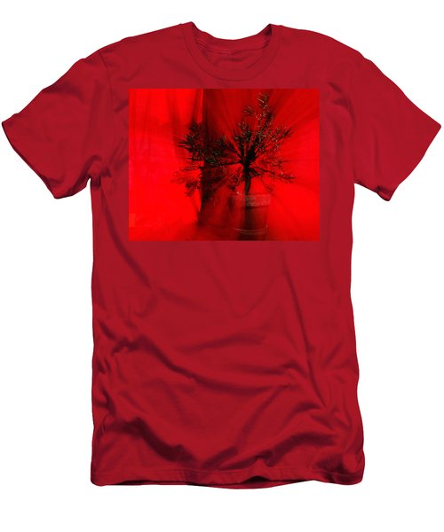Men's T-Shirt (Slim Fit) featuring the photograph Cabin Fever Dance by Susan Capuano