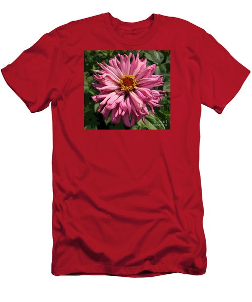 Men's T-Shirt (Slim Fit) featuring the photograph Cactus Petal Zinnia by Jeanette French