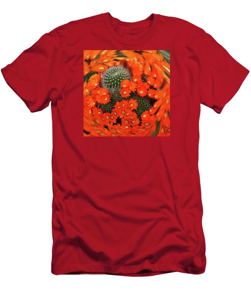 Cactus Swirl Men's T-Shirt (Athletic Fit)