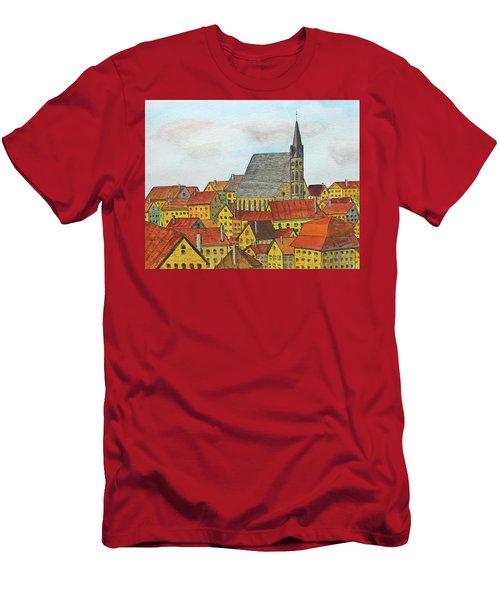 Cesky Krumlov Men's T-Shirt (Slim Fit) by Jack G Brauer